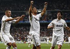 Real-Marseille (3-0) - Benzema félicite Cristiano Ronaldo